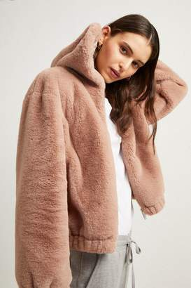 Arabella French Connenction Faux Fur Hooded Jacket