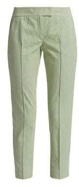 Akris Punto Frankie Stripe Seersucker Cropped Pants