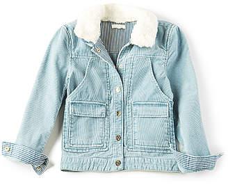 Chloé (クロエ) - Kids Stonewashed Faux Fur Collar Jacket