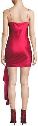 Cinq à Sept Ryder Sleeveless Tie-Hem Satin Dress
