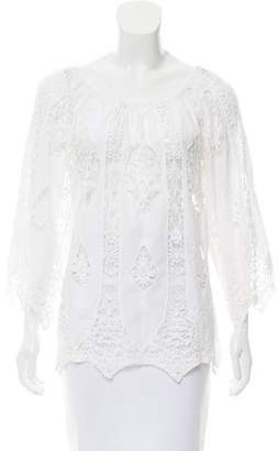 Miguelina Crochet Lace Off-The-Shoulder Top