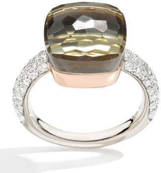 Pomellato Nudo Prasiolite and Diamond Maxi Ring