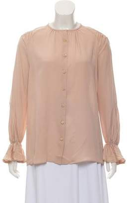 Derek Lam Ruched Silk Blouse