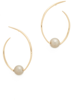 Alexis Bittar Coiled Imitation Pearl Earrings $175 thestylecure.com