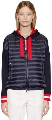Moncler Hooded Cotton & Nylon Down Jacket