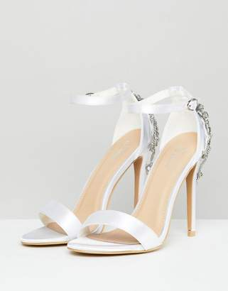 648bda020cb8 Be Mine Bridal Alina Ivory Satin Embellished Heeled Sandals
