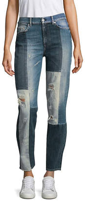 7 For All Mankind Seven 7 Distressed Patchwork Jeans