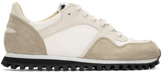 Spalwart White and Grey Marathon Trail Low WB Sneakers