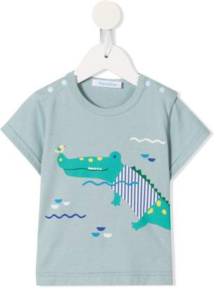 Familiar crocodile print T-shirt