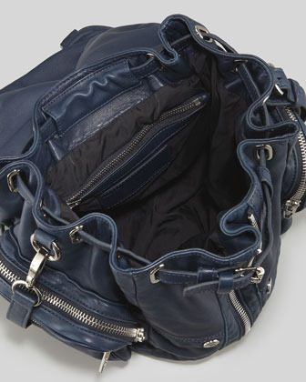 Alexander Wang Marti Zippered Backpack, Navy