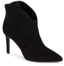 Pointed Suede High Heel Booties $895 thestylecure.com