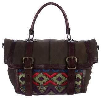 Cynthia Vincent Embroidered Messenger Bag