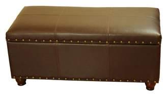 HomePop Storage Cocktail Bench, Brown