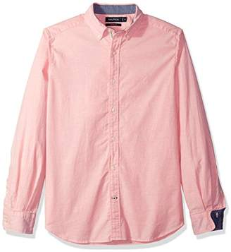 Nautica Men's Classic Fit Long Sleeve Solid Oxford Shirt