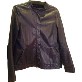Theory Grey Leather Jacket for Women