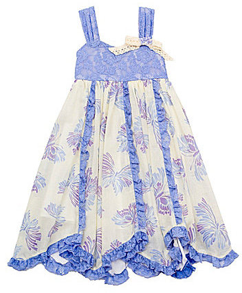 Rare Editions 2T-6X Butterfly-Print Lace Dress