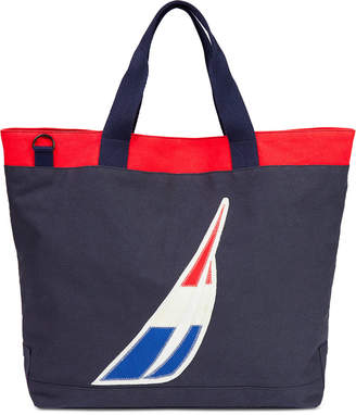 Nautica Racer Logo Printed Tote Bag