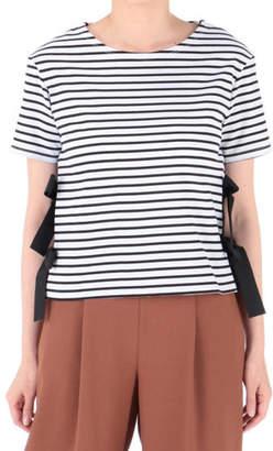 SONO (ソーノ) - SONO サイドリボンTシャツ
