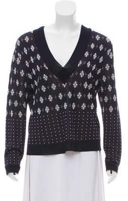 Rag & Bone Printed V-Neck Sweater