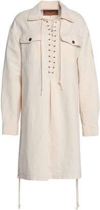 McQ Lace-up Denim Shirt Dress