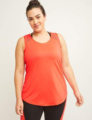 Lane Bryant Wicking Active Layered Tank with Low-Impact Sport Bra