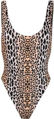 Reina Olga Funky leopard print swimsuit