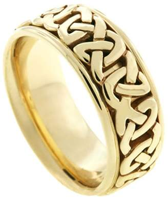 Celtic American Set Co. Men's 14k Yellow Gold 8.5mm Comfort Fit Wedding Band Ring size 13.5