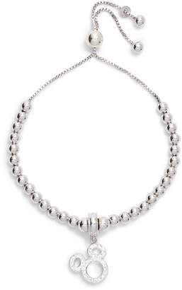 Disney Mickey Crystal Pave Adjustable Charm Bracelet