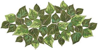 Kim Seybert Overlapped Leaves Table Runner - Green
