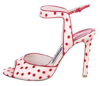Tom Ford Swiss Dot Ankle-Strap Sandals