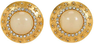 One Kings Lane Vintage Oversize Chanel Star Clip Earrings