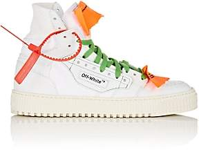 Off-White WoMen's 3.0 Leather & Canvas Sneakers-White