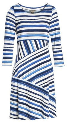 Women's Tommy Bahama Aquarelle Stripe A-Line Dress $145 thestylecure.com
