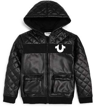 True Religion Boys' Quilted Faux-Leather Jacket - Big Kid