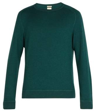 Massimo Alba Crew Neck Cashmere Knitted Sweater - Mens - Green