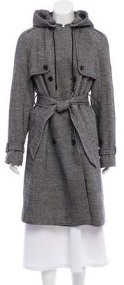 Dolce & Gabbana Hooded Wool-Blend Coat