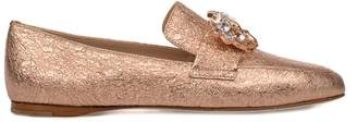 Fabio Rusconi Copper Chic Laminated Leather Loafer
