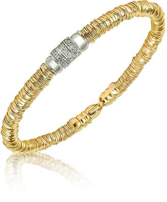 Orlando Orlandini Capriccio - Diamond 18K Gold Chain Snake Bracelet