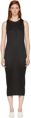 Pleats Please Issey Miyake Black Basics Pleated Sleeveless Dress