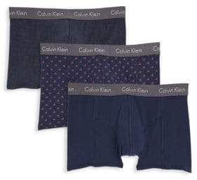 Calvin Klein Cotton-Blend Briefs/Pack Of 3