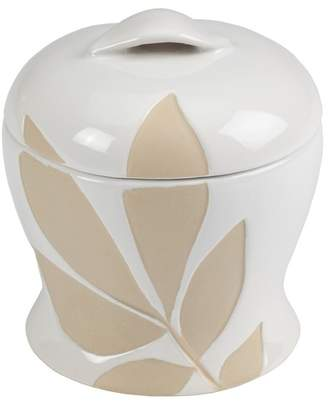 Creative Bath Neutrals Shadow Leaves Jar