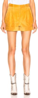 Isabel Marant Abot Suede Short in Amber Gold | FWRD