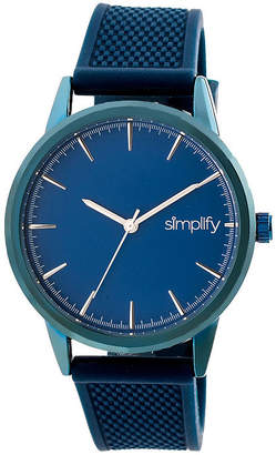 Simplify Blue Dial Mens Blue Strap Watch-Sim5206