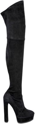 140mm Stretch Suede Over The Knee Boots $1,450 thestylecure.com