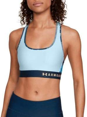 Under Armour Womens Armour Mid Crossback Print Sports Bra