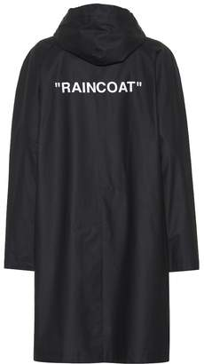 Off-White Off White Quote printed raincoat