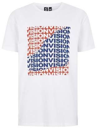 Topman Mens VISION STREET WEAR White 'Tear' T-Shirt