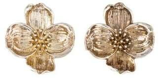 Tiffany & Co. Dogwood Clip-On Earrings