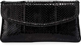 Nancy Gonzalez Tracy Snakeskin Small Clutch Bag