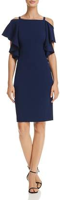 Adrianna Papell Cold-Shoulder Sheath Dress